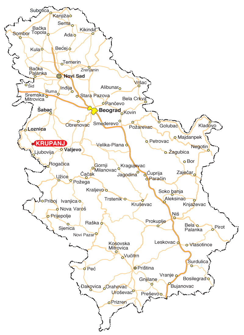 mapa valjevo Tourist organization of the municipalitz of Krupanj mapa valjevo